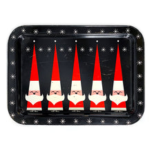 Load image into Gallery viewer, Vintage Mid-Century Modern Santa Claus & Starburst Hostess Tray