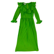 Load image into Gallery viewer, Vintage 70s Green Maxi Dress