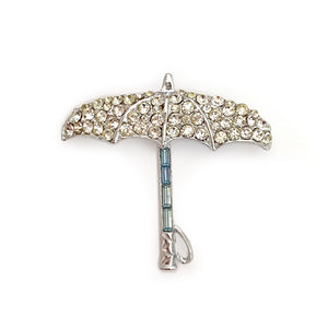 Vintage Open Umbrella Brooch