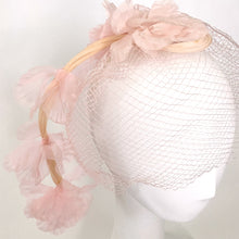 Load image into Gallery viewer, Mid-Century Pink Flower Hat