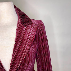 Vintage Suede Striped Women's Blazer