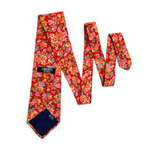 Load image into Gallery viewer, Liberty of London Red, Orange & Pink Floral Tie