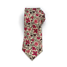 Load image into Gallery viewer, Liberty of London Pink & Red Floral Tie