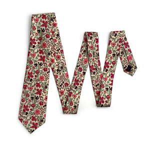 Liberty of London Pink & Red Floral Tie