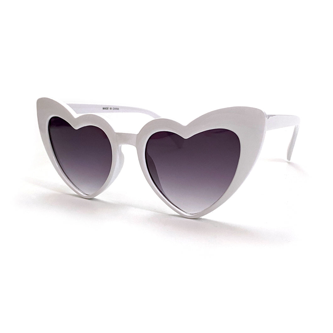 """Eye Heart It"" White Sunglasses"