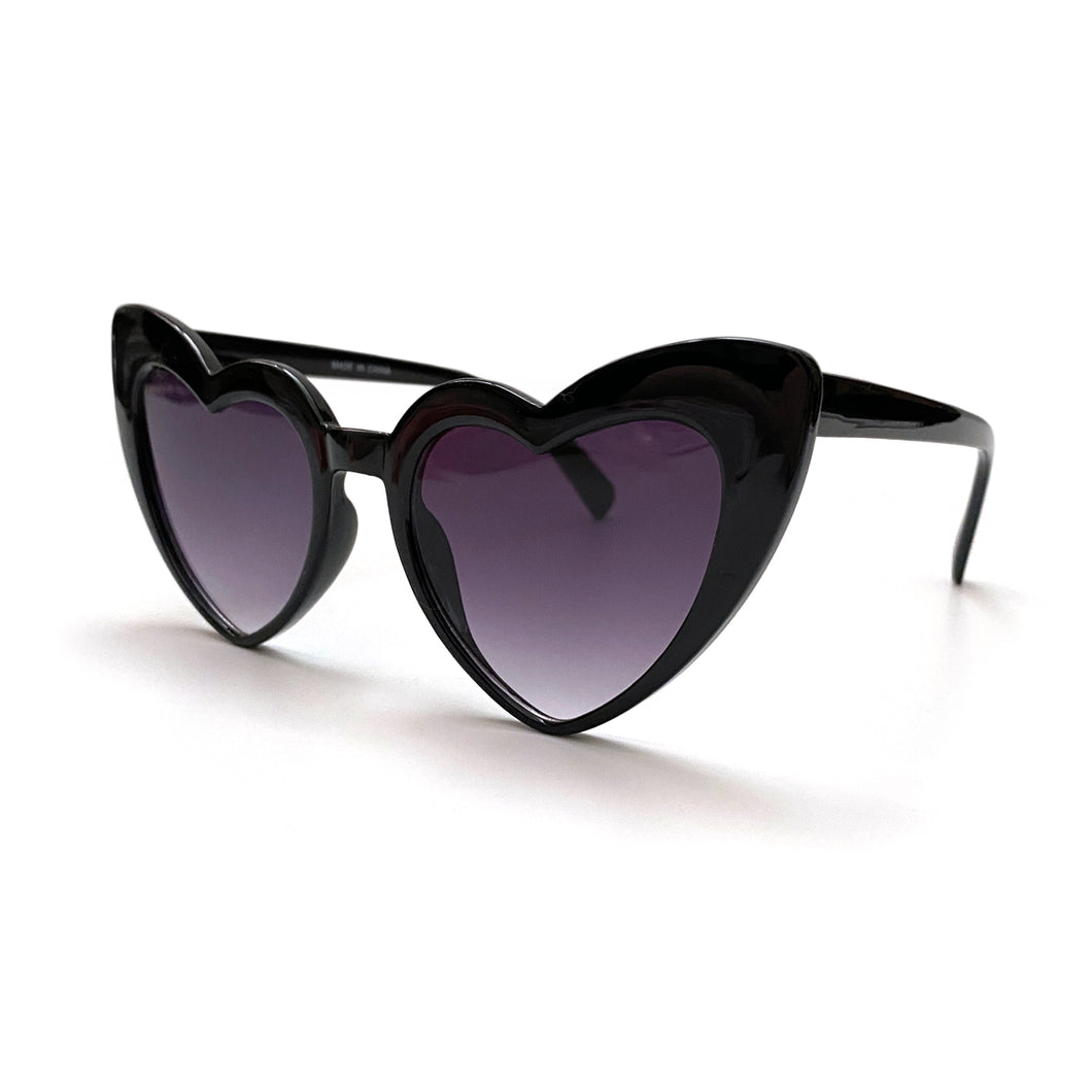 """Eye Heart It"" Black Sunglasses"