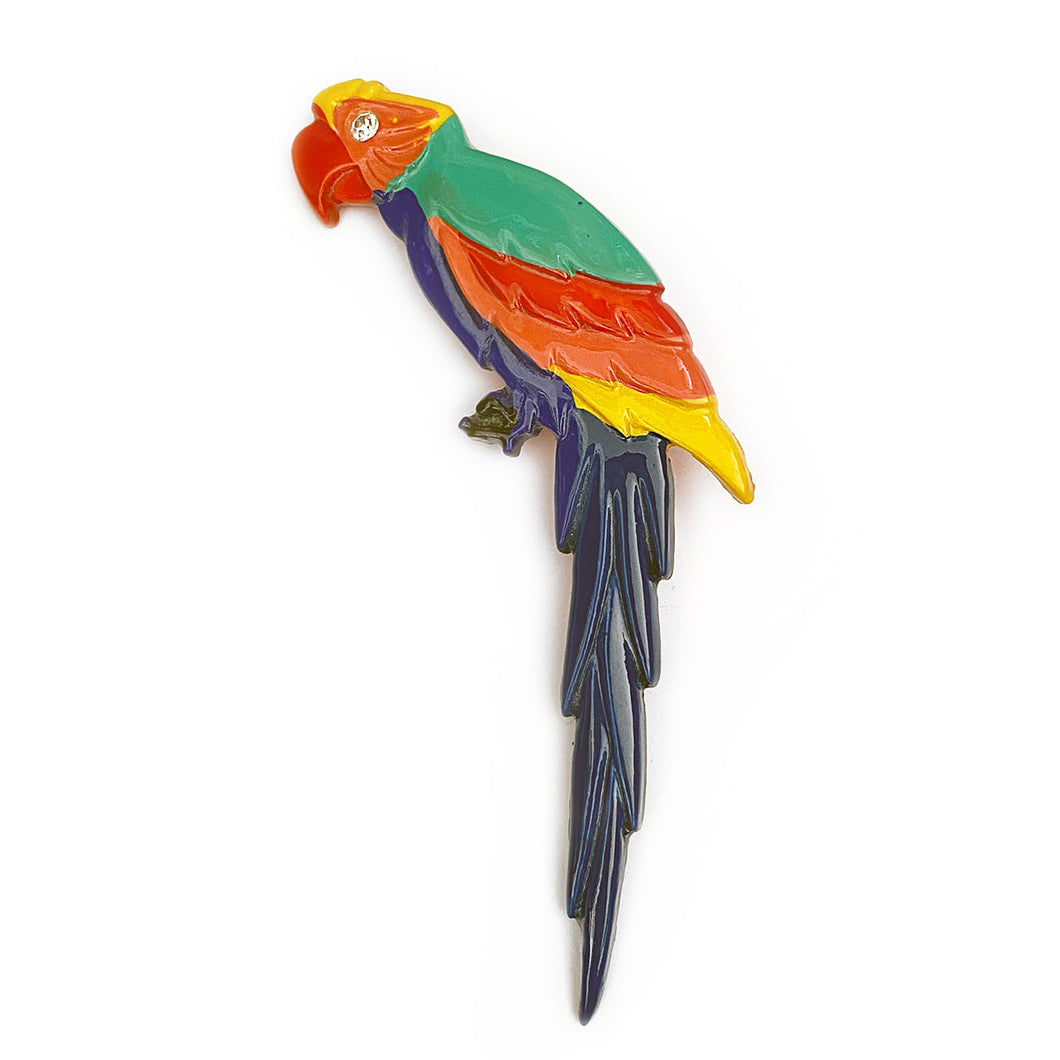 Vintage Parrot on Branch Brooch