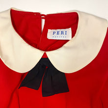 Load image into Gallery viewer, Vintage 80s Red Dress w/ Peter Pan Collar