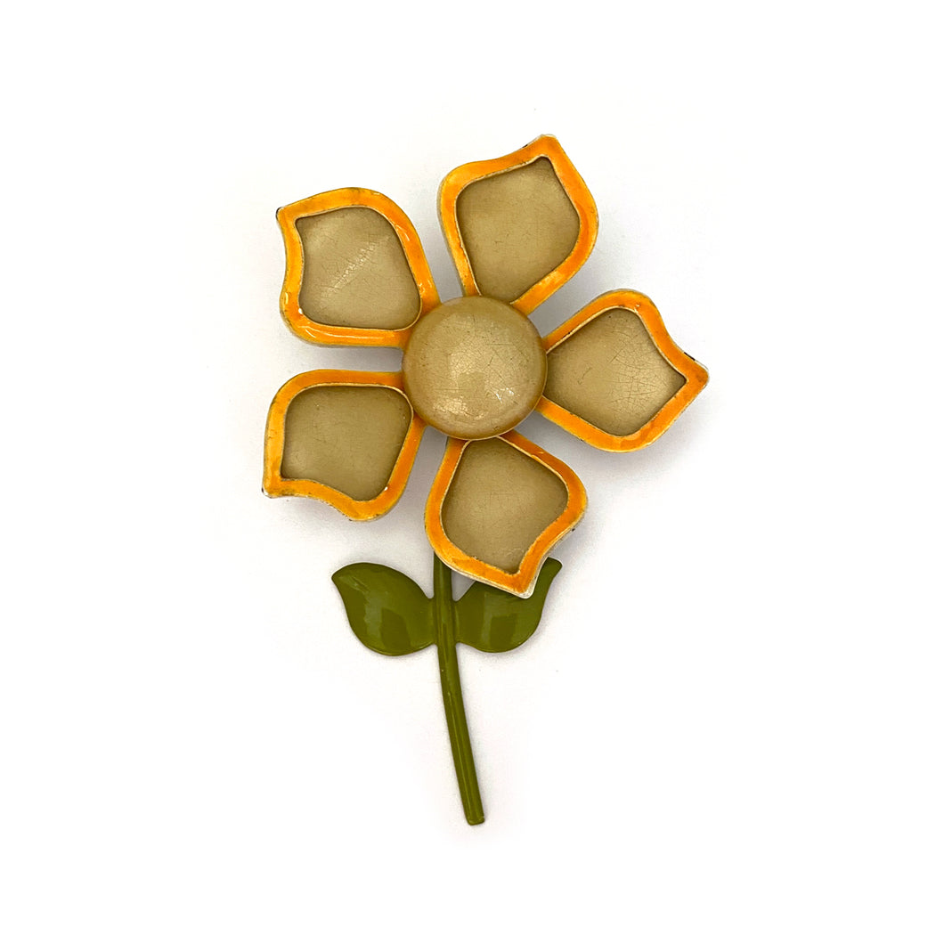 1960s Tiered Flower Brooch