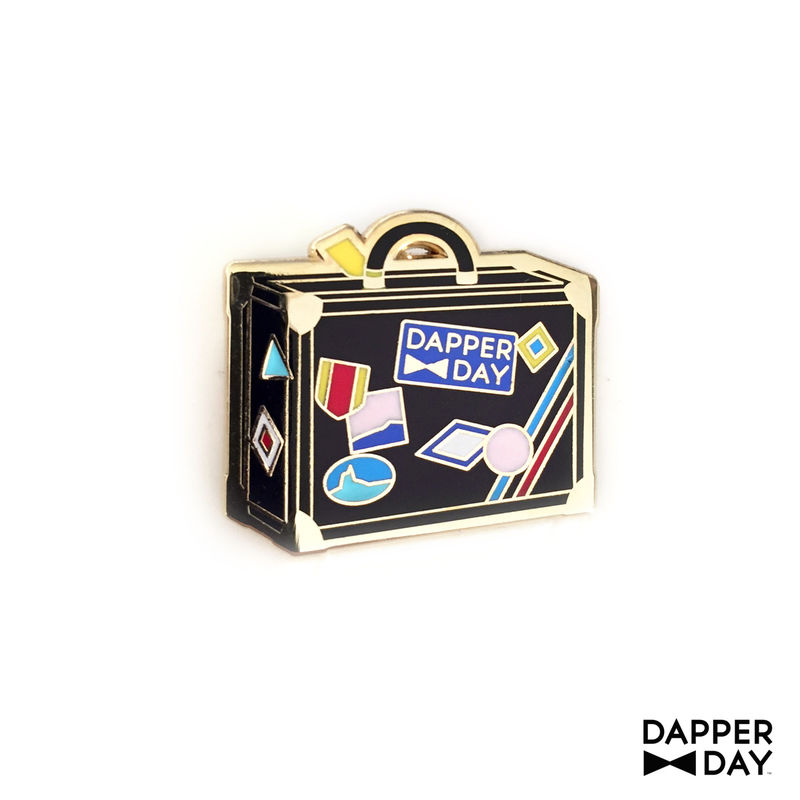 DAPPER DAY Luggage Lapel Pin, Black