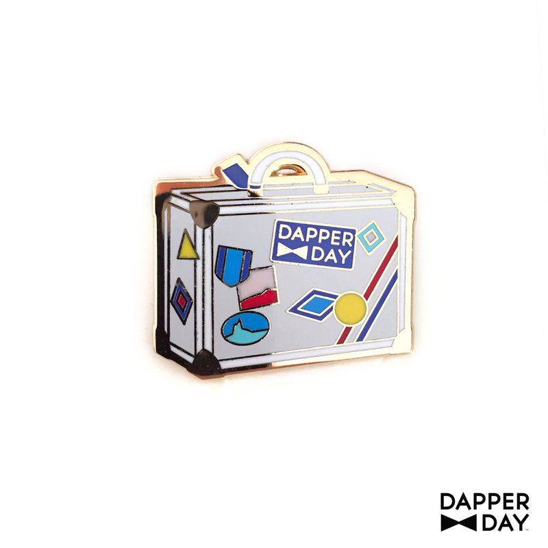 DAPPER DAY Luggage Lapel Pin, White