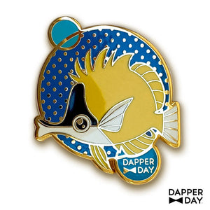Yellow Kissy Fish Pin