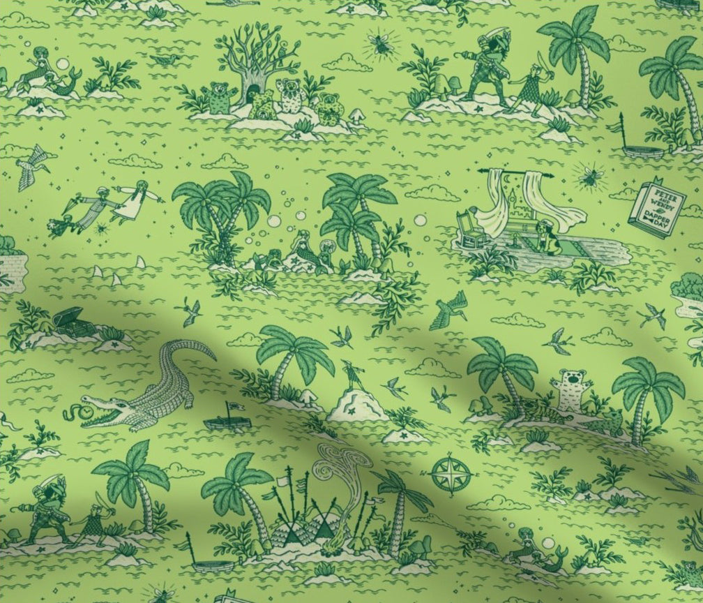 DAPPER DAY® Neverland Toile Fabric {Leaf}