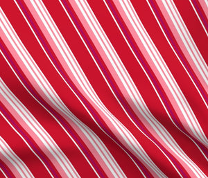 DAPPER DAY® Red Candy Stripe Print Fabric