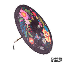 Load image into Gallery viewer, Garden Party Parasol (Black)