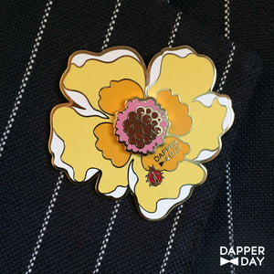 Big-Buttercream Boutonnière Pin