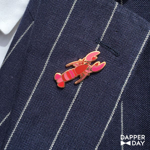 Lounging Lobster Pin