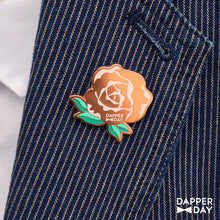 Load image into Gallery viewer, Rose Gold Rose Pin