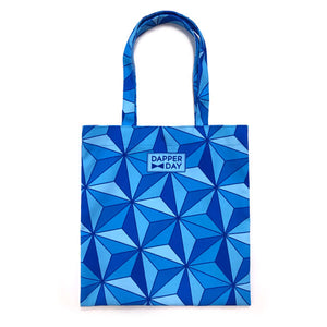 Sharkstooth Print Snap Tote Bag