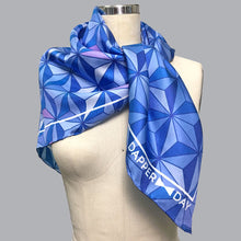 Load image into Gallery viewer, Sharkstooth Print Silk Scarf