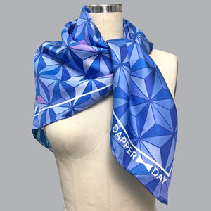 Sharkstooth Print Silk Scarf