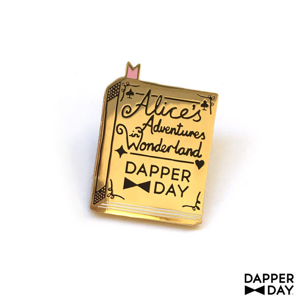 Wonderland Book Pin