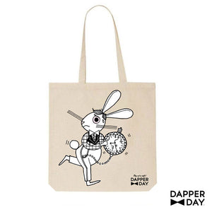 Wonderland Print Tote Bag