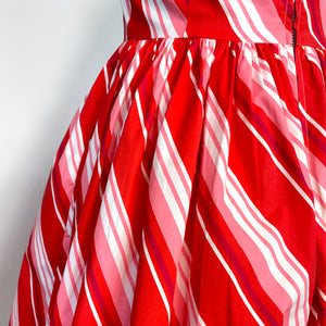 Sandra Dress in Candy Stripe Print