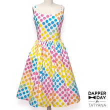 Load image into Gallery viewer, Sandra Dress in Dot Candy Print