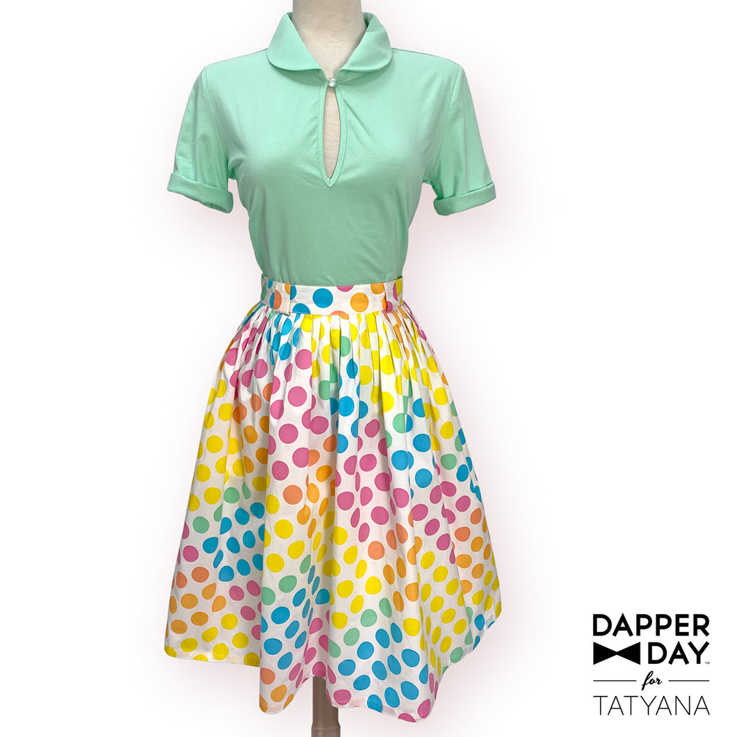 Gloria Skirt in Dot Candy Print