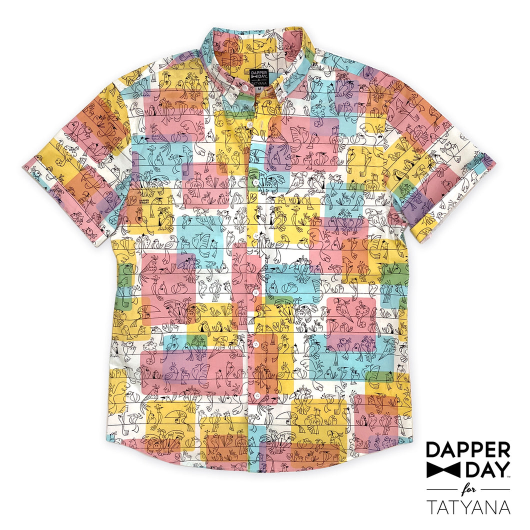 Harvey Shirt in Birds of a Feather Print