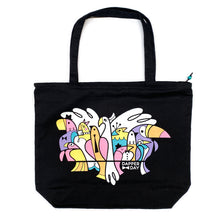 Load image into Gallery viewer, Birds of a Feather Zip Tote