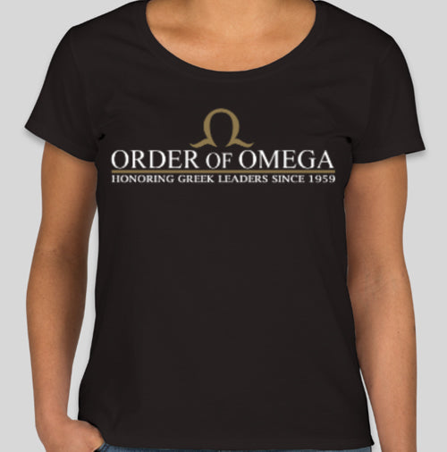 Order of Omega women's scoop neck T-shirt front