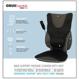 Backrest Support with Heat and Massage