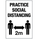 Decal - Social Distancing /4 pk