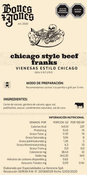 Chicago Style All Beef Frank