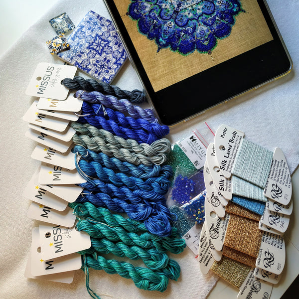 Blue Moroccan Lace