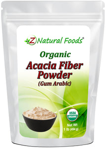 Acacia Fiber (Gum Arabic) Powder - Organic Vegetable, Leaf & Grass Powders Z Natural Foods