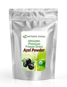Acai Berry Powder Premium - Organic Freeze Dried Fruit Powders Z Natural Foods