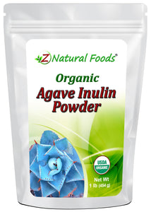 Agave Inulin Powder - Organic Vegetable, Leaf & Grass Powders Z Natural Foods