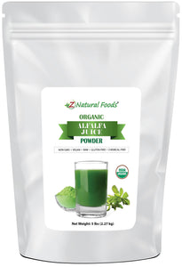 Alfalfa Juice Powder - Organic Vegetable, Leaf & Grass Powders Z Natural Foods