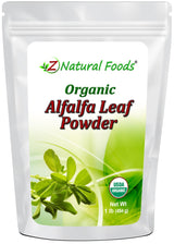 Alfalfa Leaf Powder - Organic Vegetable, Leaf & Grass Powders Z Natural Foods