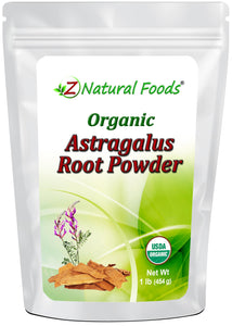 Astragalus Root Powder - Organic Tonics Z Natural Foods