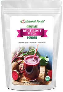 Beet Root Juice Powder - Organic Herb & Root Powders Z Natural Foods