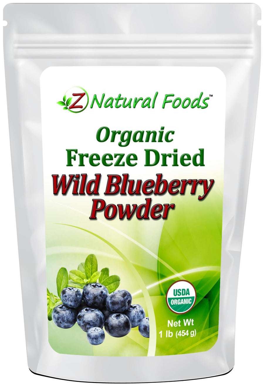 Blueberry Powder - Organic Freeze Dried Fruit Powders Z Natural Foods 1 lb