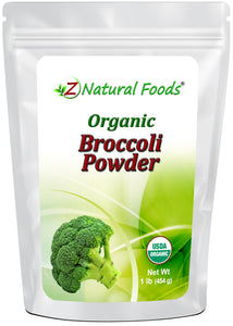 Broccoli Powder - Organic Vegetable, Leaf & Grass Powders Z Natural Foods