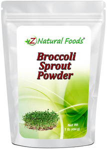 Broccoli Sprout Powder Vegetable, Leaf & Grass Powders Z Natural Foods