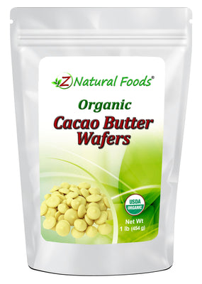 Cacao Butter Wafers - Organic Cacao Z Natural Foods