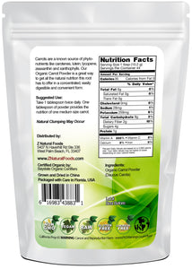 Carrot Powder - Organic Vegetable, Leaf & Grass Powders Z Natural Foods