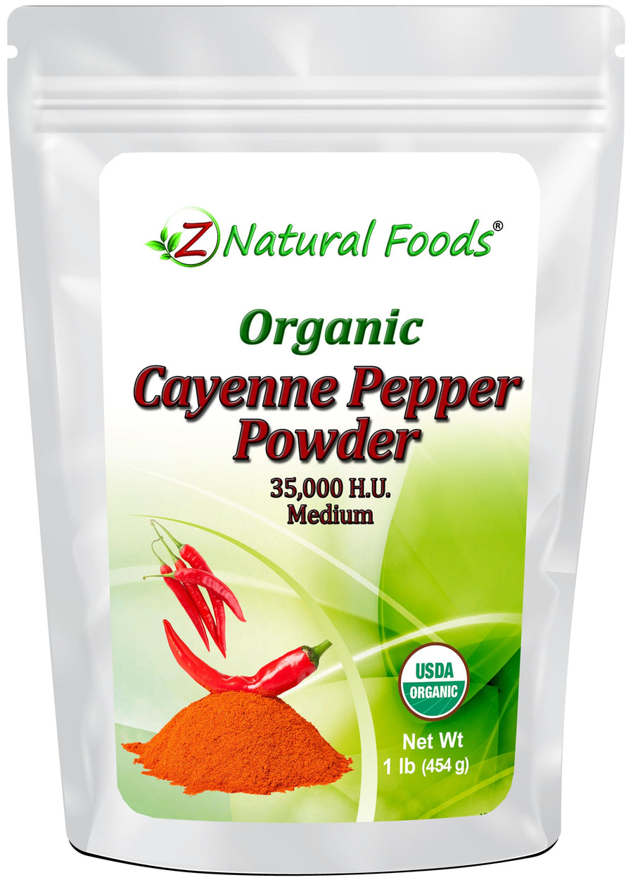 Cayenne Pepper Powder - Organic Herb & Root Powders Z Natural Foods
